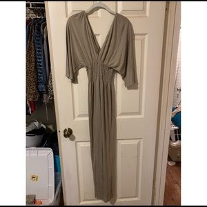 fresha london beige maxi dress